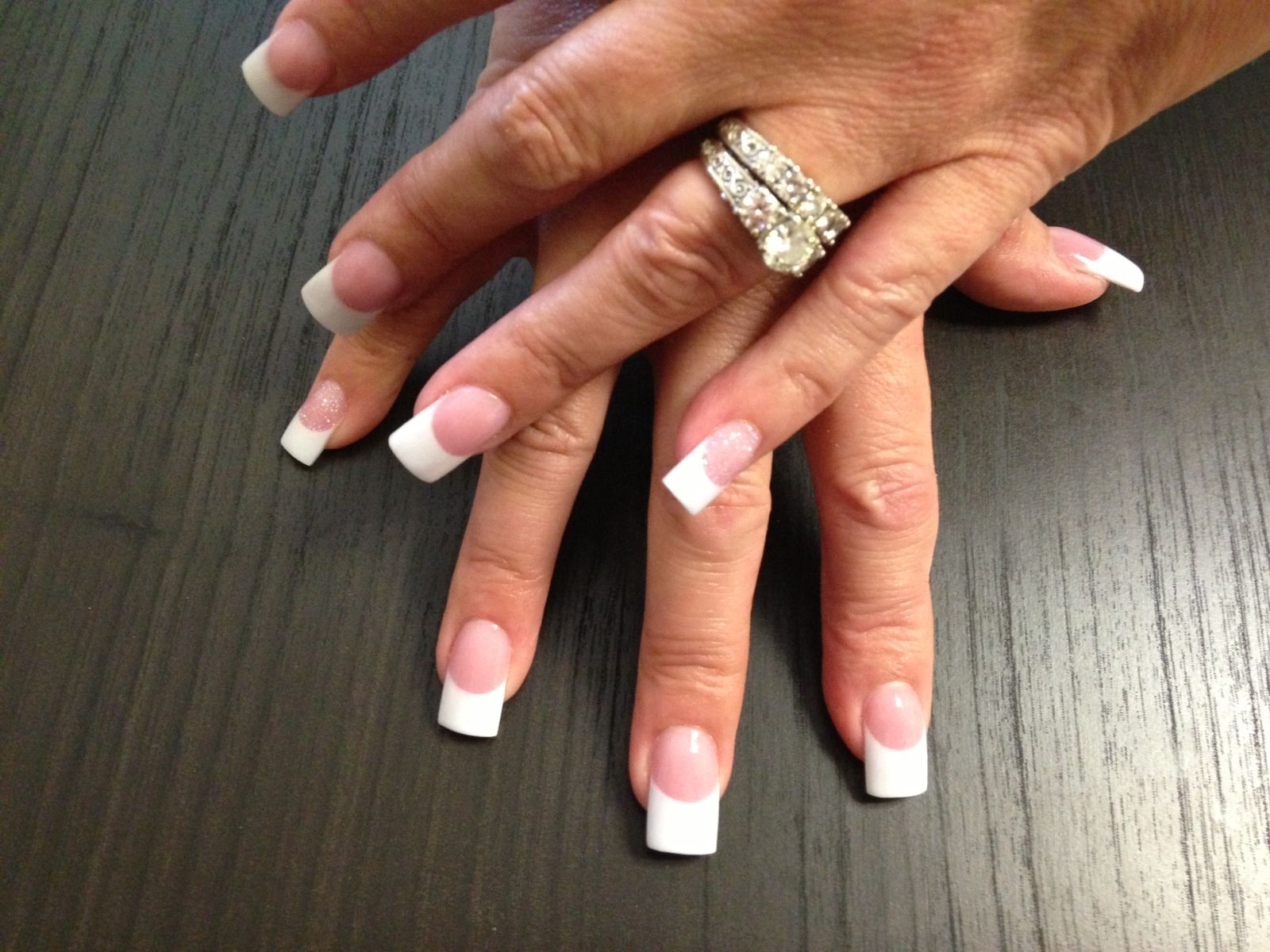 Allure Salon And Spa In Leominster Ma At Vagaro Com Pink White Nails Pink Nail Designs White Acrylic Nails