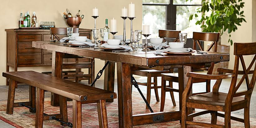 Distressed Wood Dining Tables Benchwright Dining Pottery Barn - Pottery barn distressed dining table