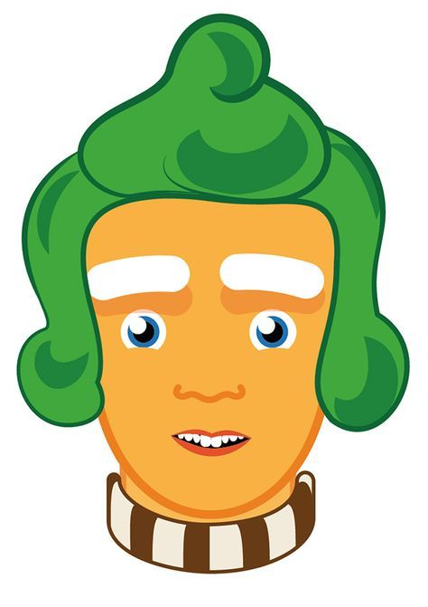 Print and cut out this free Ooompa Loompa mask for your kid\'s Willy ...