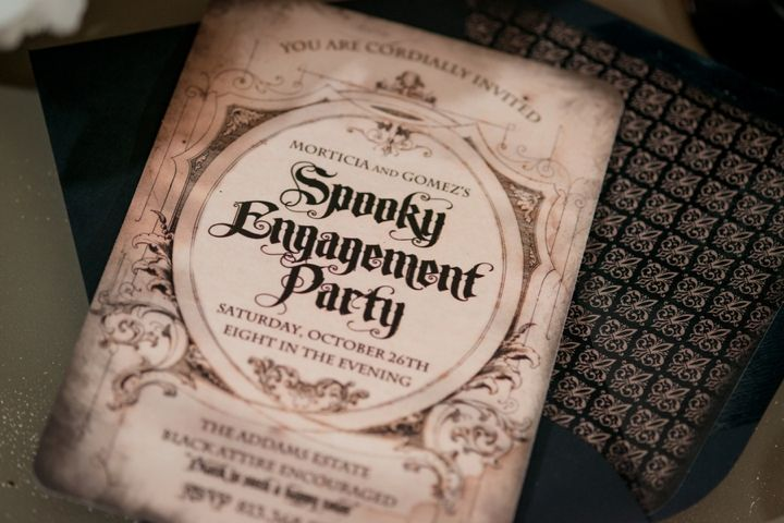 Elegant Halloween Inspired Engagement Party Ideas Engagements
