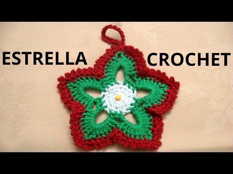 como tejer estrellas de navidad en tejido crochet tutorial