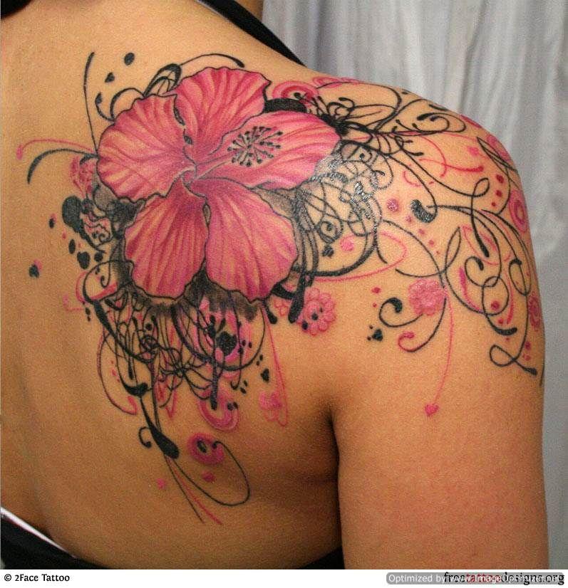 flowertattoosforwomen12 Shoulder tattoos for women