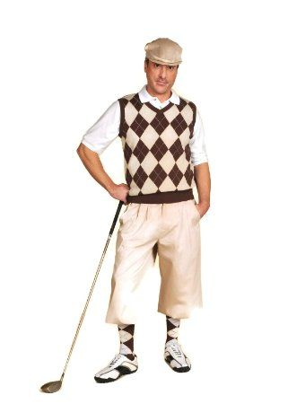90de13b8 Classic mens 1920s-1930s golf knickers, vest, tall socks, flat cap and  sport shirt at VintageDancer.com