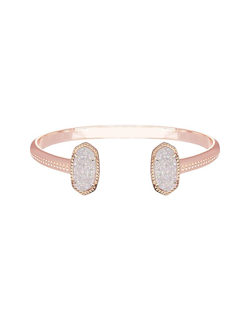 Elton Rose Gold Bracelet in Iridescent Drusy Kendra Scott Jewelry