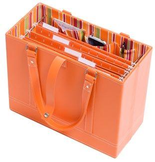 High Quality Portable Orange File Box. Cute!