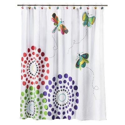 Circo Butterflies Shower Curtain Pastel Target Mobile