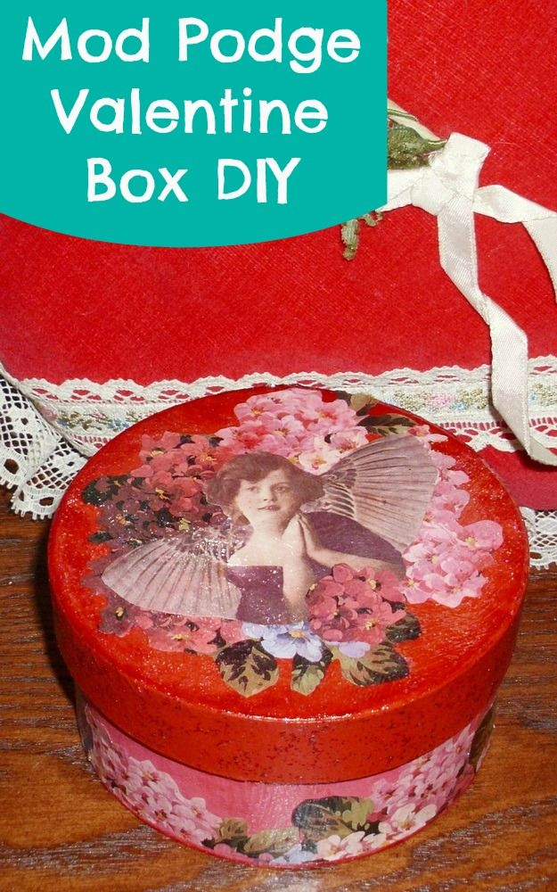 Easy DIY: Valentine's Day Decoupage Box with Sparkle Mod Podge!