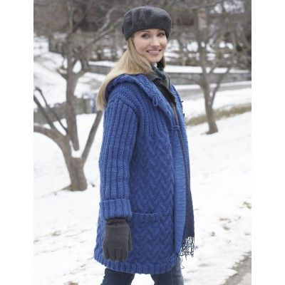 Car Coat Free Knitting Pattern and more free coat and jacket ...