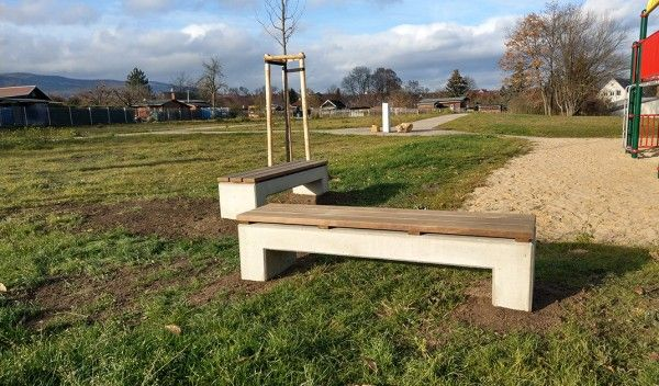 Angulus Sedes Pontis 1 Parkbank U Form Mit Holzauflage