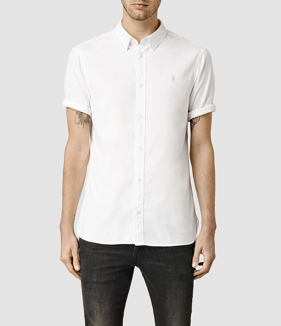 f904e05a7ff8 Men's Redondo Half Sleeved Shirt (White) - Half Sleeve Shirts, Half Sleeves,