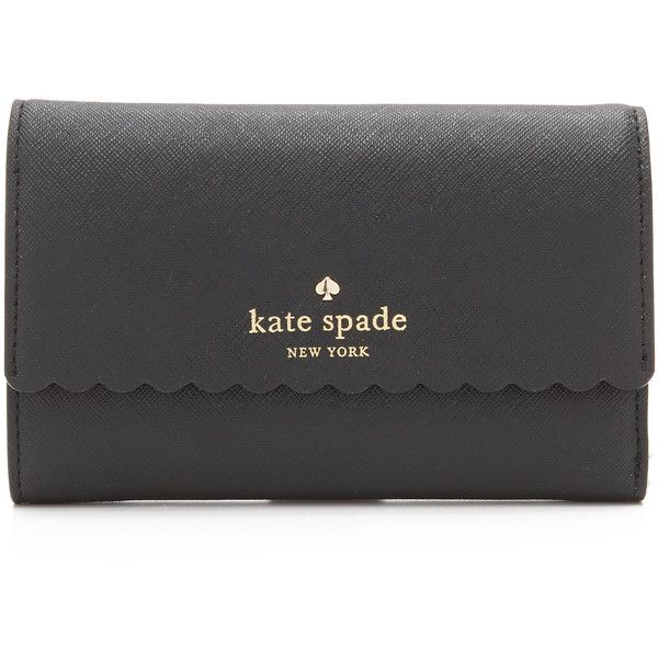 Kate Spade New York Kieran Wallet (570 PEN) ❤ liked on Polyvore featuring bags, wallets, real leather wallet, pocket wallet, kate spade, leather bags and leather credit card holder wallet