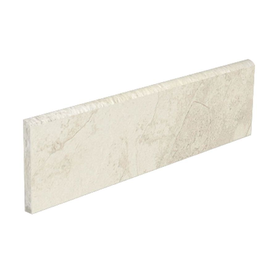 Maybe As A Back Splash Or Counter For My Mb Style Selections Smoky White Glazed Porcelain Bullnose Tile Common 3 In X 12 Actual 15