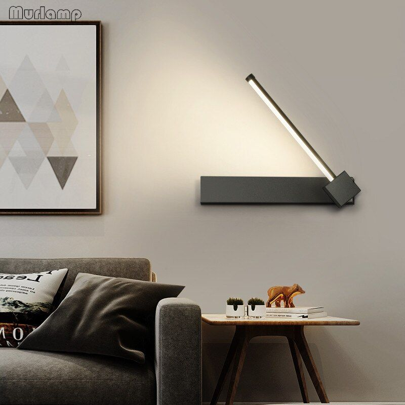 Led Wall Lamp With Switch 7w Bedroom Living Room Nordic Modern Wall Light Aisle Study Reading Sconce White B Black Wall Lamps Led Wall Lamp Modern Wall Lights