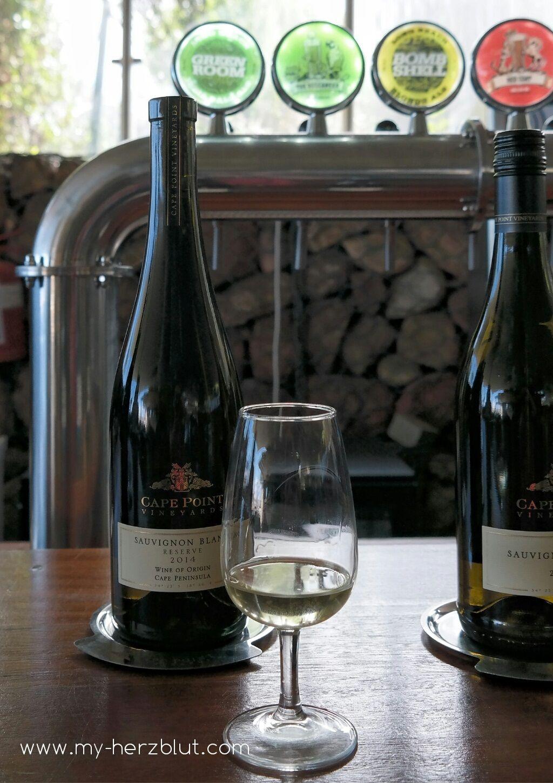 Weinverkostung Cape Point Vineyards - Sauvignon Blanc Reserve 2014.