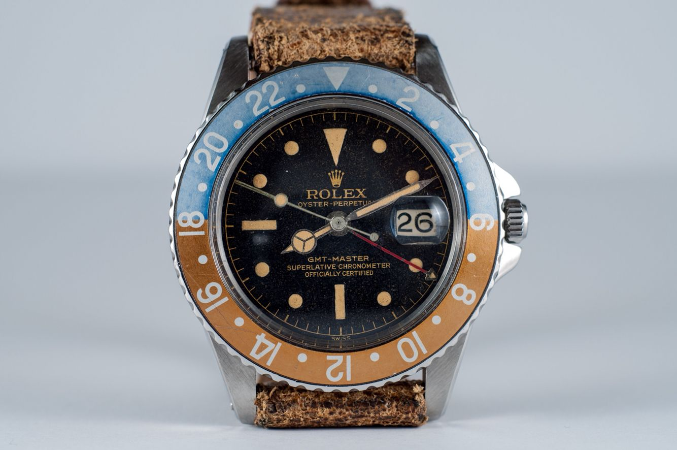 My Rolex Gmt Master Ref 1675 With Gilt Outer Chapter Ring Dial And