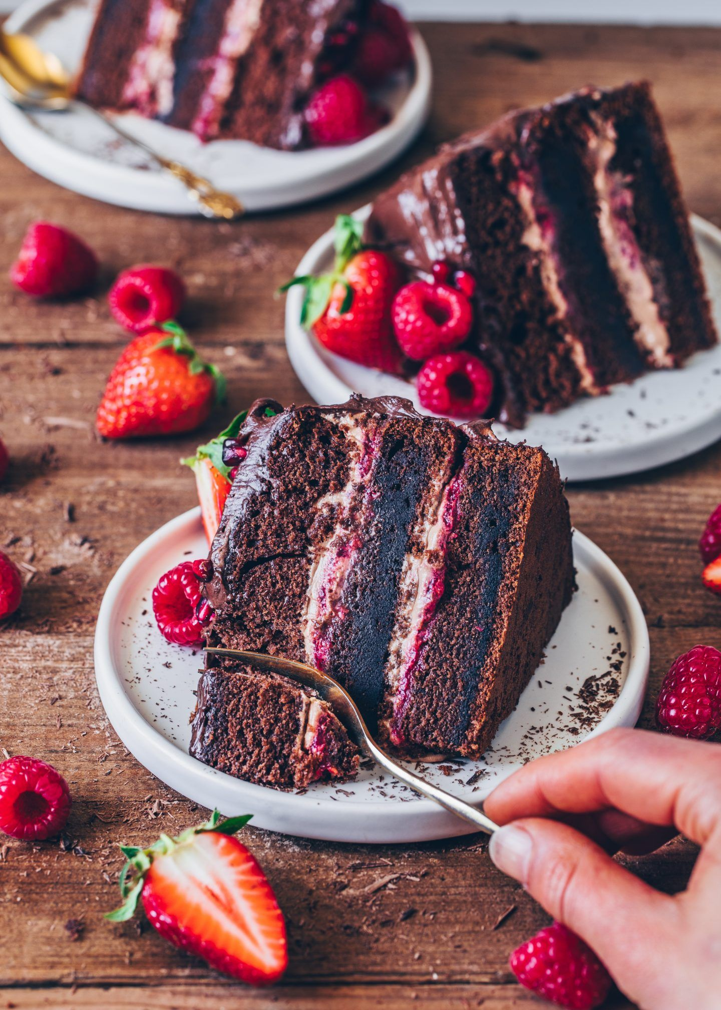 Chocolate Raspberry Cake #recipeshealthy