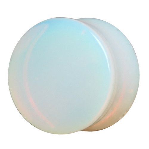 High polished and smoothed Moonstone stone double flared plug. sizes 3mm-16mm. www.ukcustomplugs.co.uk
