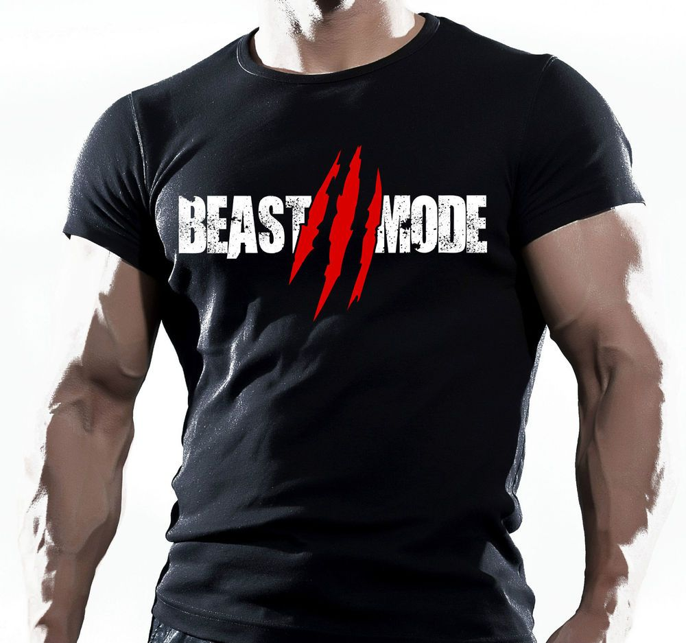 Beast Functional Gym Training Workout Fitness Strength Sport Black T-Shirt  MMA in Clothes d09a40c0e9b30