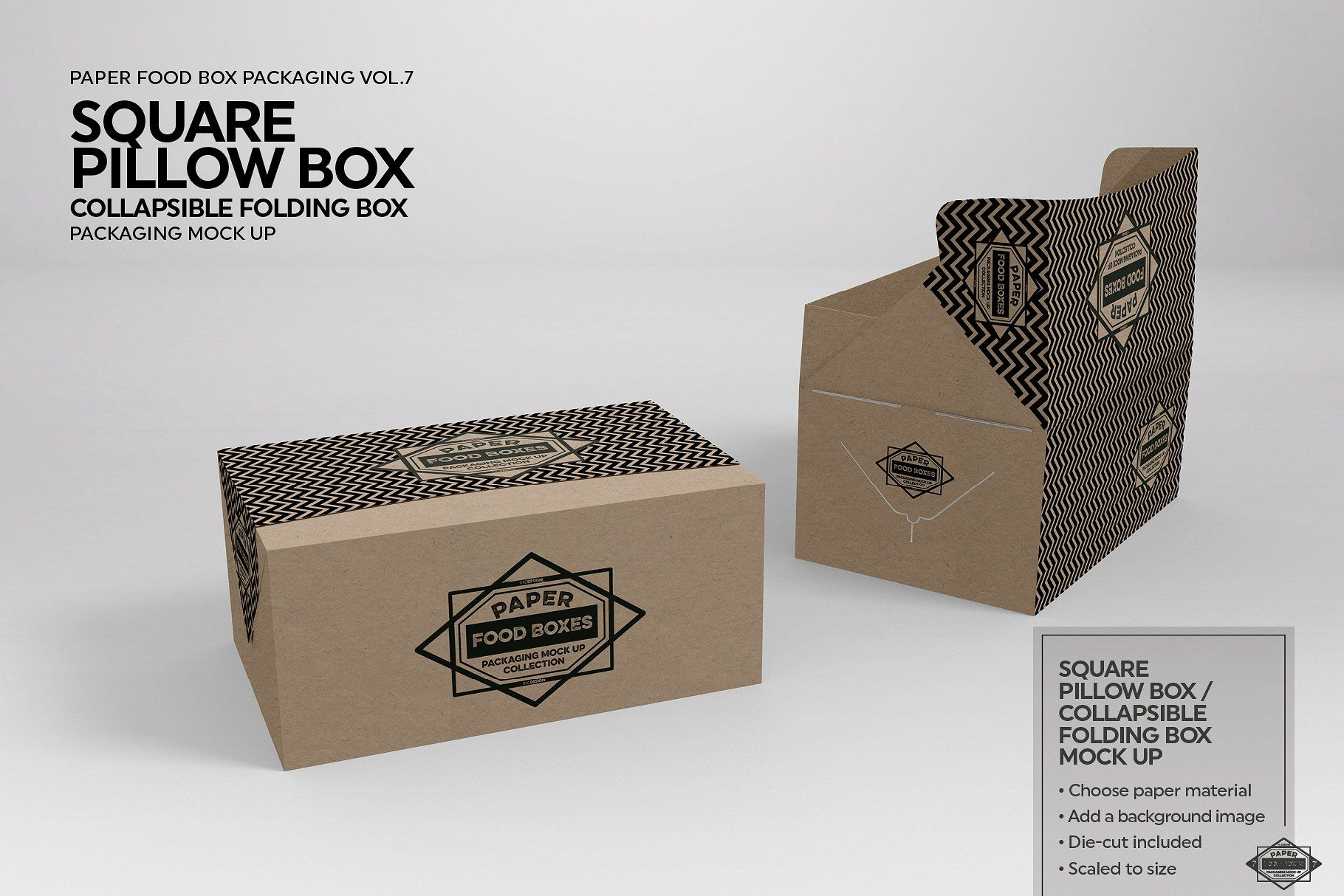 Download Square Pillow Box Packaging Mockup Packaging Mockup Free Packaging Mockup Pillow Box