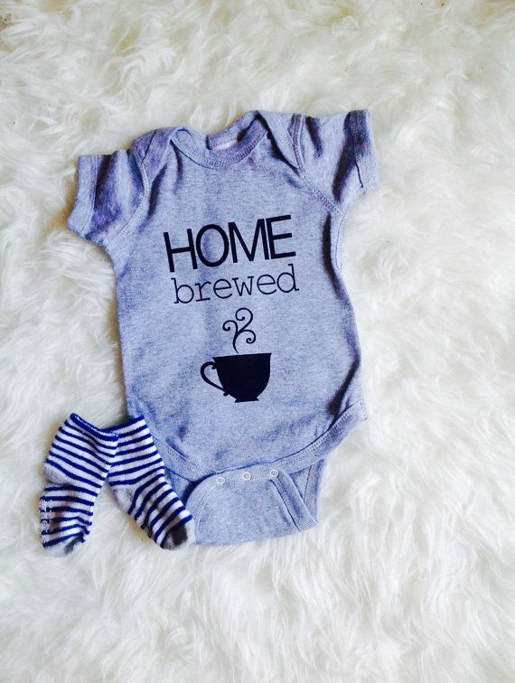 Home brewed onesie newborn take home outfit by