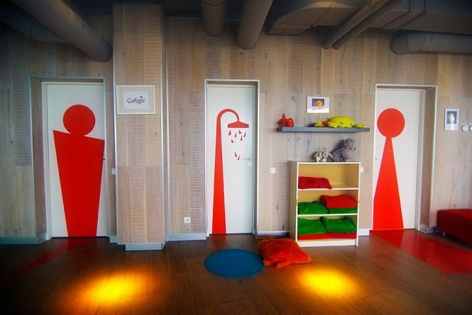 Google Office In Russia Love The Door Signs Creative Spaces