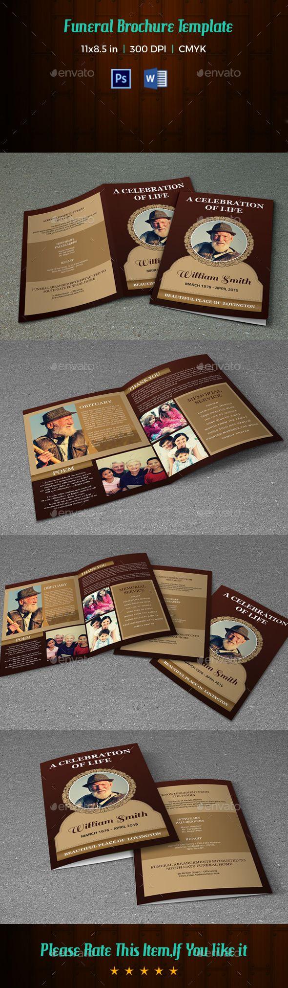 Funeral Program Template V Brochures Brochure Template And - Informational brochure template