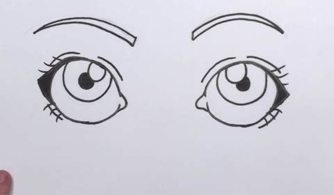 How To Draw Cartoon Eyes Easy Step By Step Lesson For Kids And