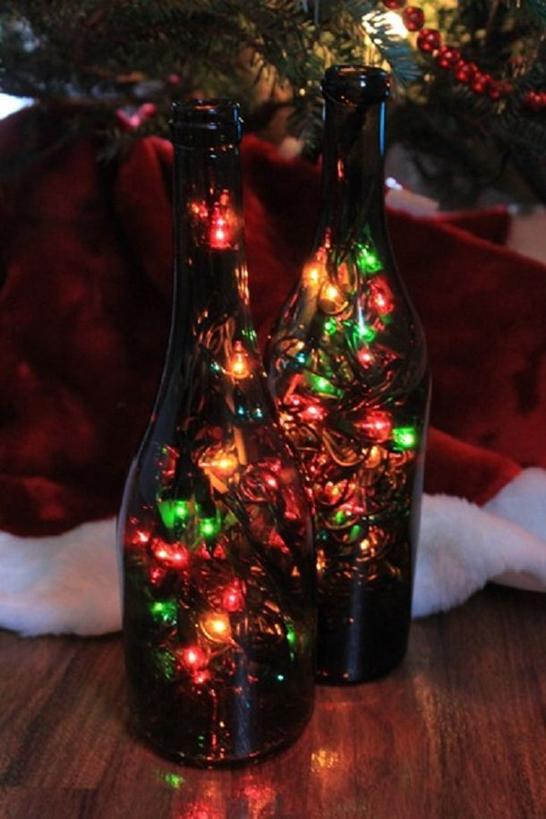 It's Gonna Be So Much Fun Christmas Holiday Ideas Pinterest Magnificent Empty Wine Bottle Christmas Decorations