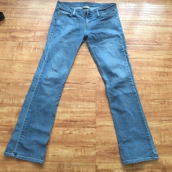 LEVI's eco-friendly low cut jeans Low boot cut. Eco friendly. Good condition. Size 6/28. No wear or tear. Levi's Jeans Boot Cut