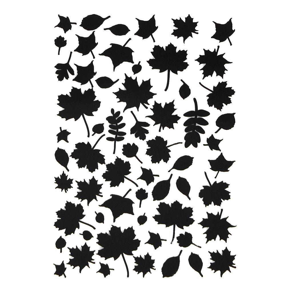 Maple leave plastic embossing foldertemplate diy scrapbooking photo