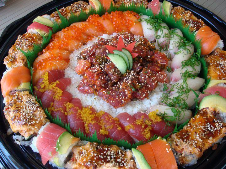 Sushi platter... for one.