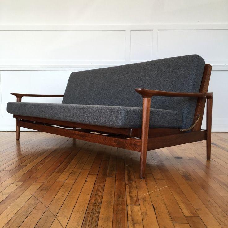 Sold British Mid Century Guy Rogers New Yorker Sofa Bed 1960s 65850 Mid Century Modern Sofa Bed Retro Sofa Mid Century Sofa