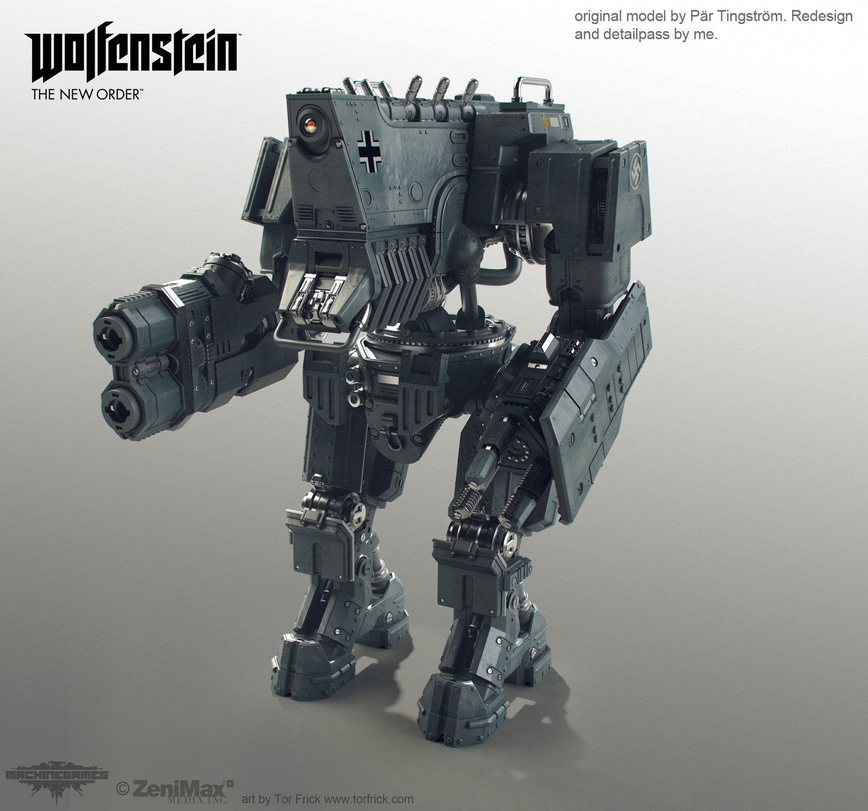 Wolfenstein Robots, Tor Frick (With Images