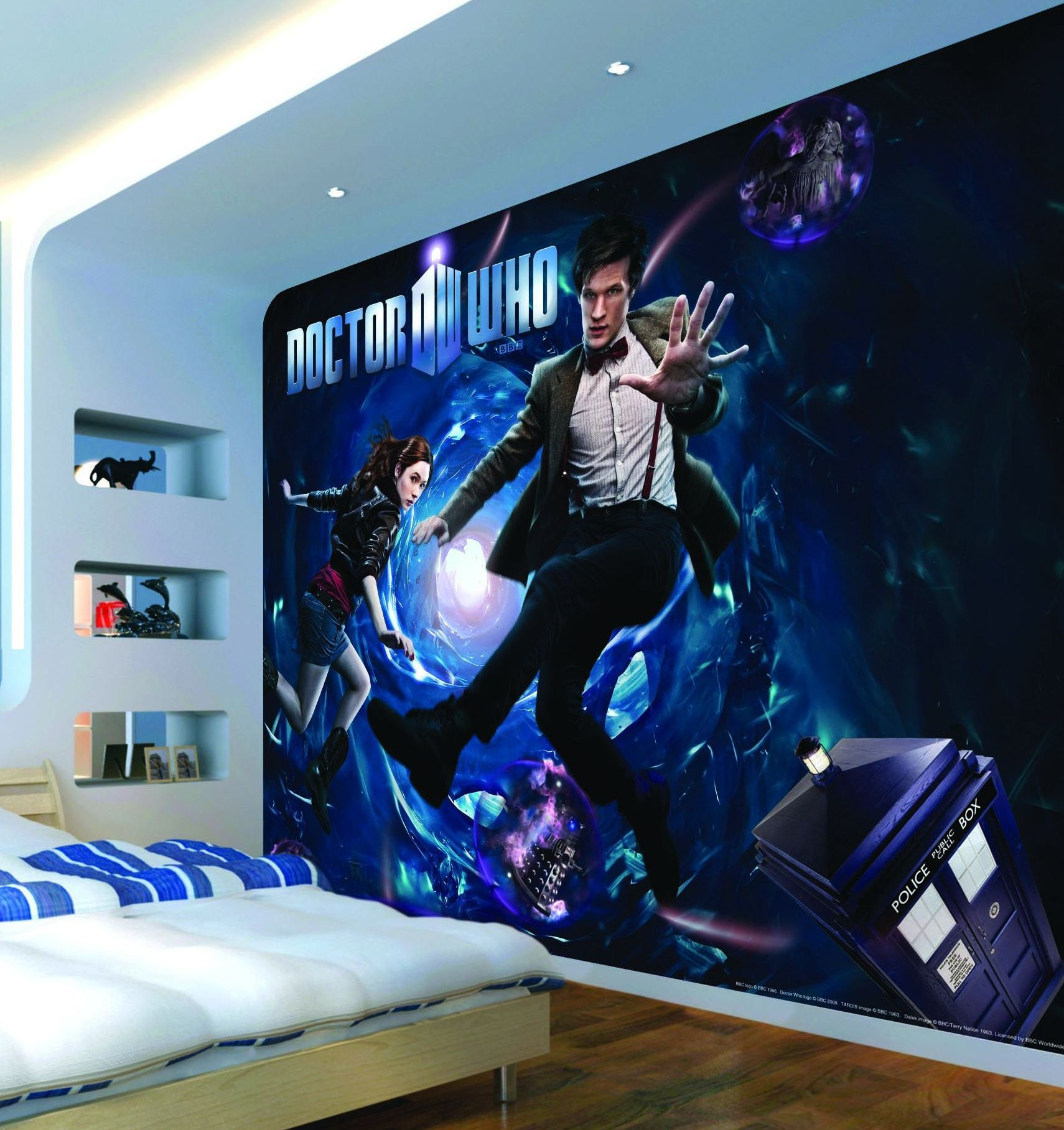 Exceptionnel Exploding Tardis Mural Wallpaper Sticker Doctor Who Bedroom