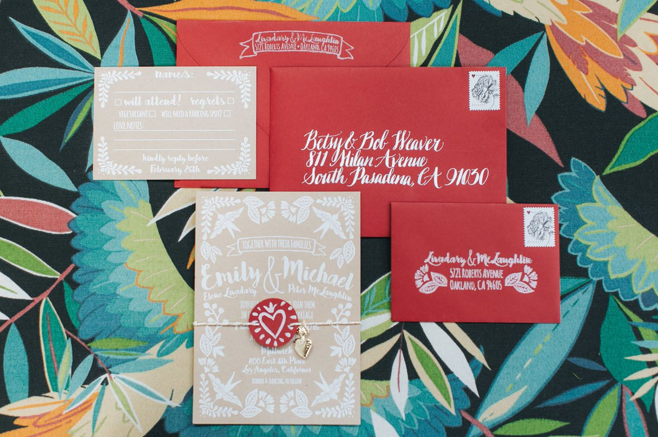 Colorful LA Wedding with a Giant Paper Cut Ceremony Backdrop | Craft ...