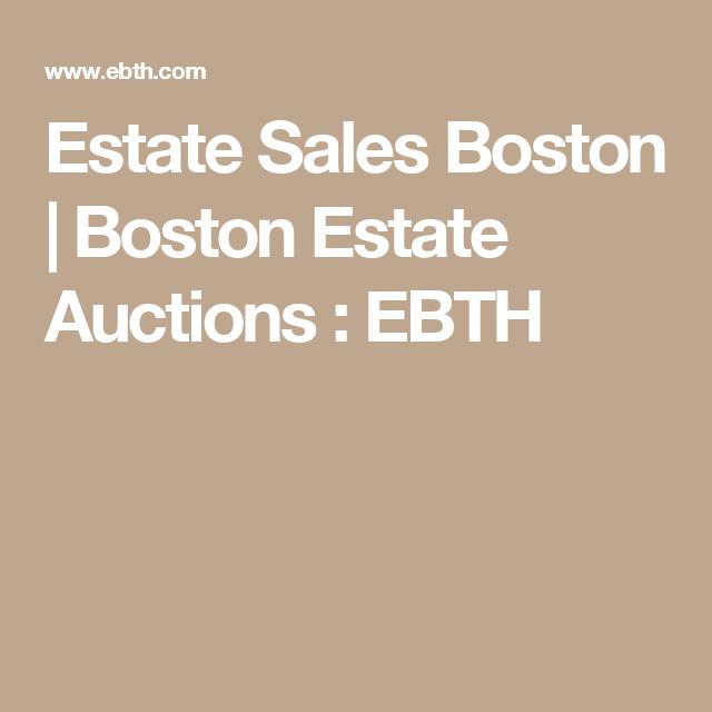 Estate Sales Boston | Boston Estate Auctions : EBTH