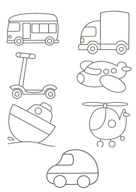 Thema Vervoer Van Alles Buku Mewarnai Aplikasi Flanel Cara