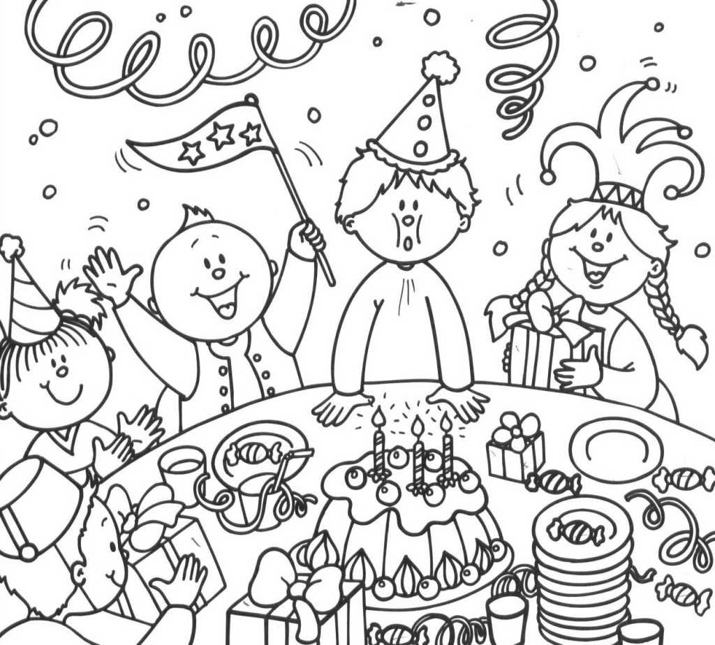 Anniversaire Jpg Dessins A Colorier Pour Enfants Verjaardag Kleurplaten Thema