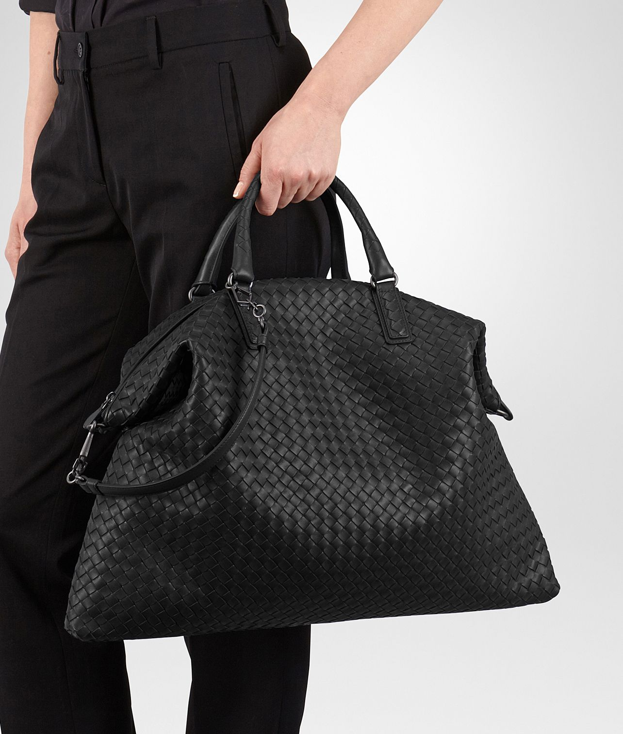 46c26ac4ba Bottega Veneta® - Nero Intrecciato Nappa Convertible Bag