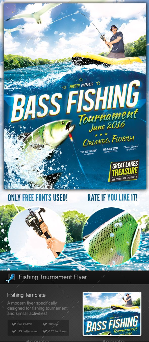 Fishing Tournament Flyer / Poster Template | Fishing tournaments ...