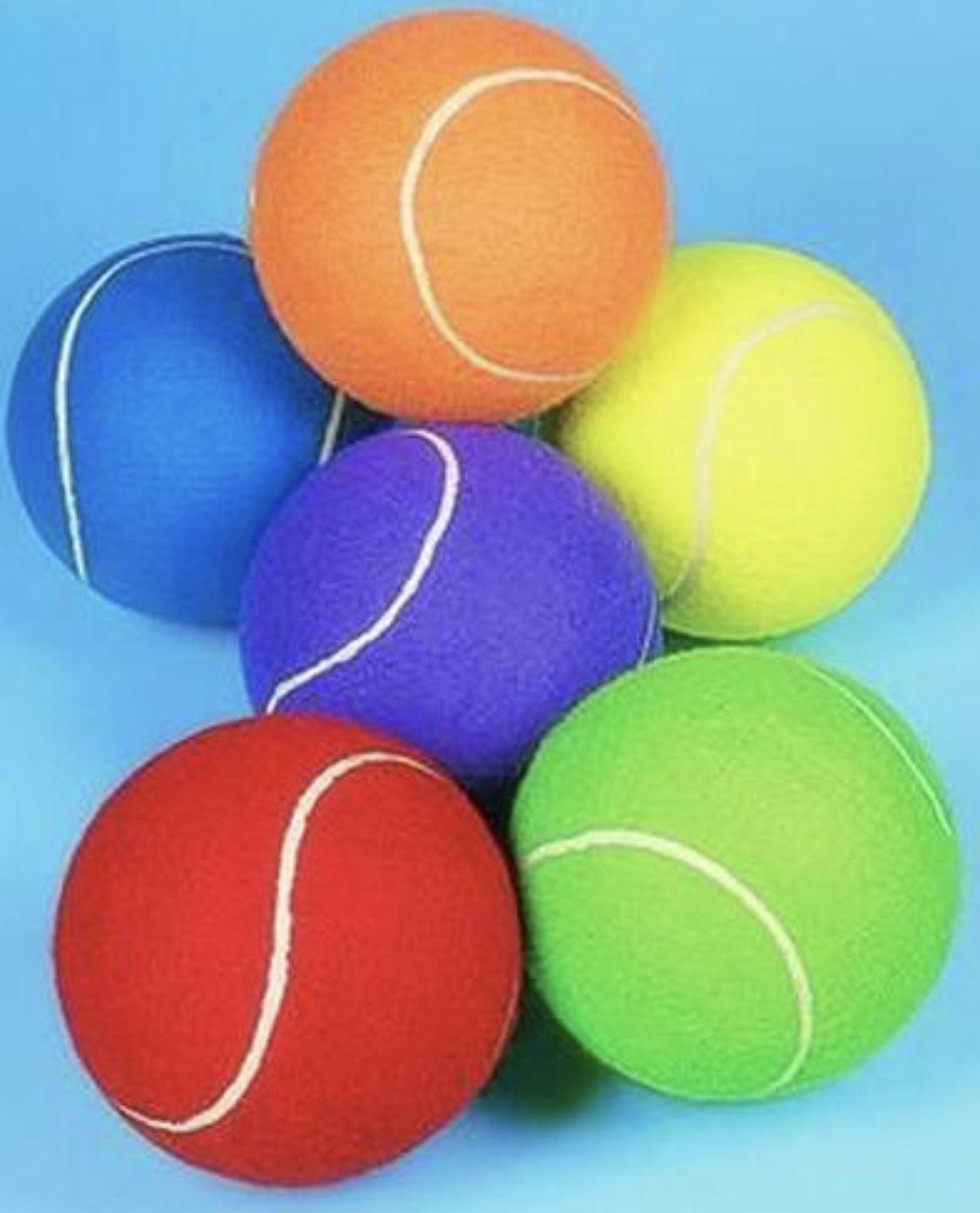 Colorful Tennis Balls Rainbow Colors Color Harmony Color Splash