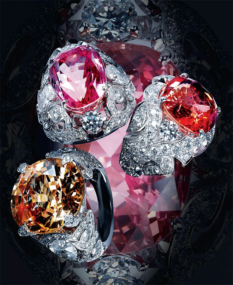 padparadscha asscher deller drop pink sapphire dakota lotus earrings cut products color best deco