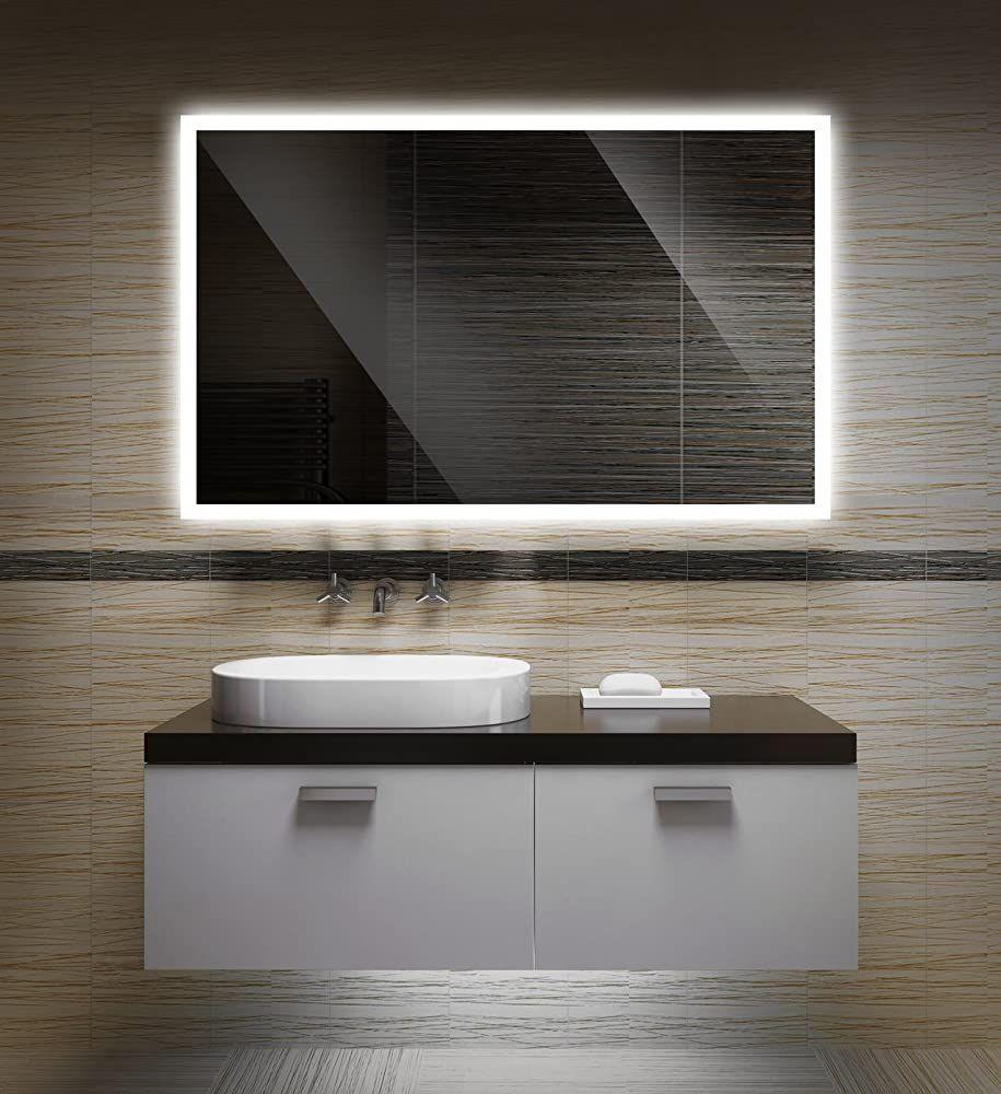 Badezimmerspiegel Mit Beleuchtung Led Spiegel 100x60 Cm