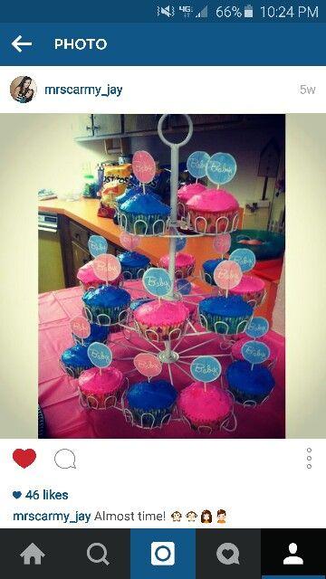 my gender reveal cupcakes!