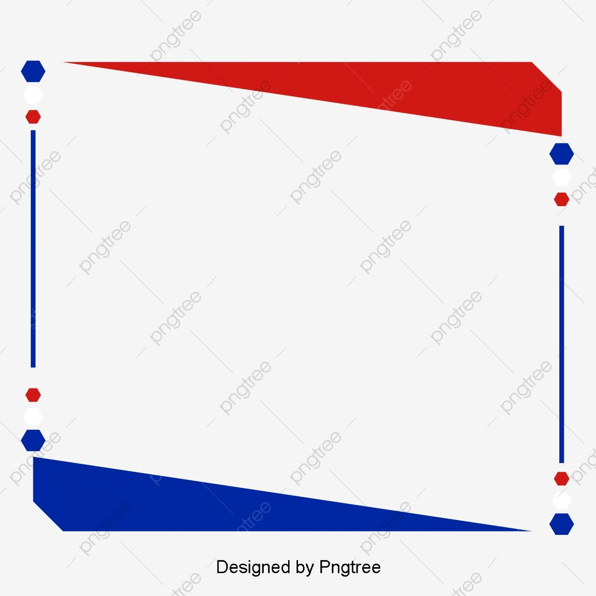 Red White And Blue Flag Borders Country Flag Border Frame Png And Vector With Transparent Background For Free Download Country Flags Blue Flag Transparent Background