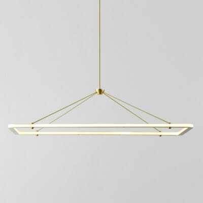 Halo Rectangle Pendant #ledtechnology