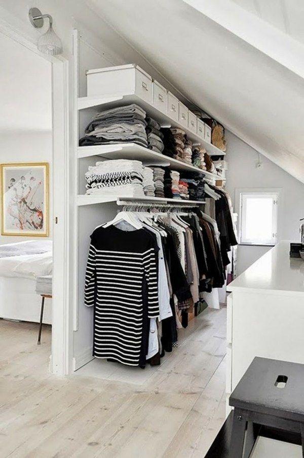 Begehbarer Kleiderschrank für kleines Zimmer- Ideen & Tipps #zimmerklein