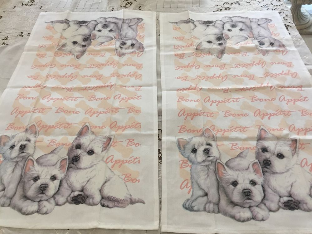 Tea Towel West Highland White Terrier