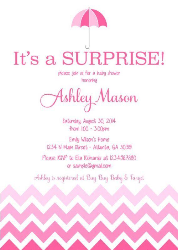 Baby Shower: Surprise Baby Shower Invitations Wording ...