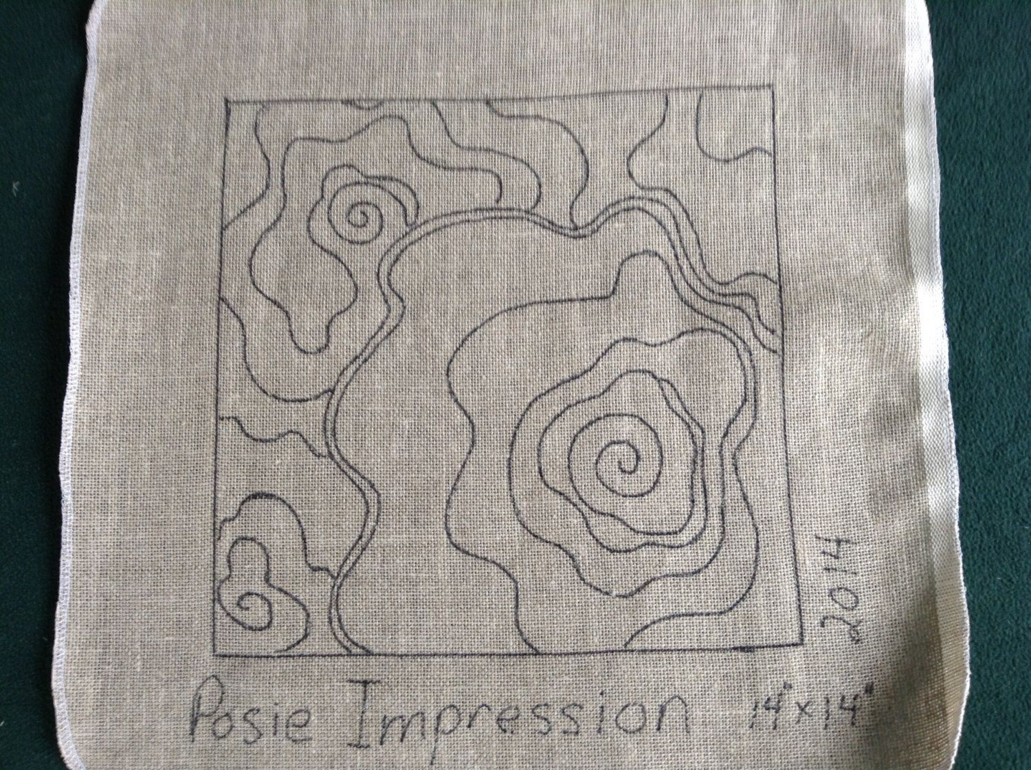 Posey Impression Rug Hooking/Punch Needle Pattern (appr. 14\